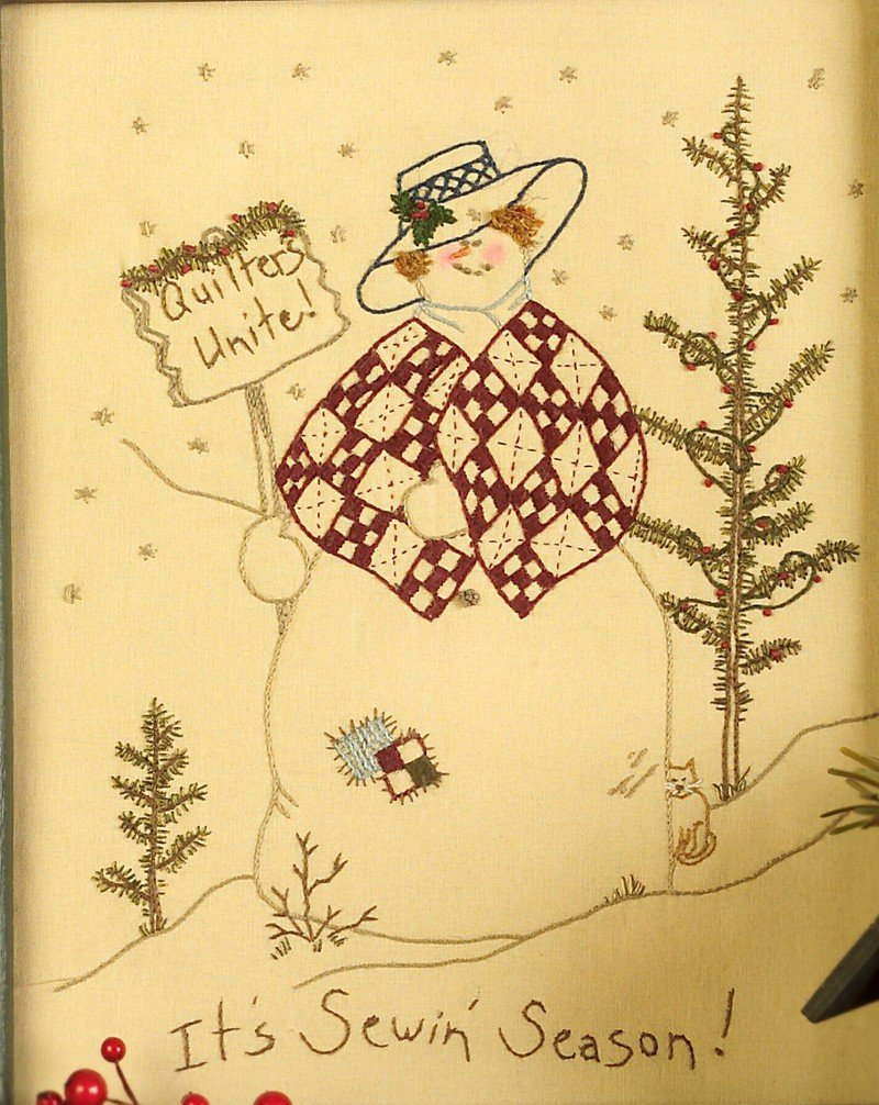 Quilting Snowladies Complete Hand Embroidery Set