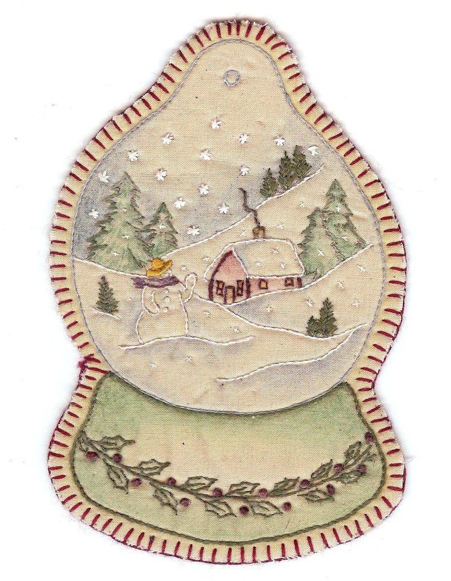 08 Vintage  Christmas Snowglobe