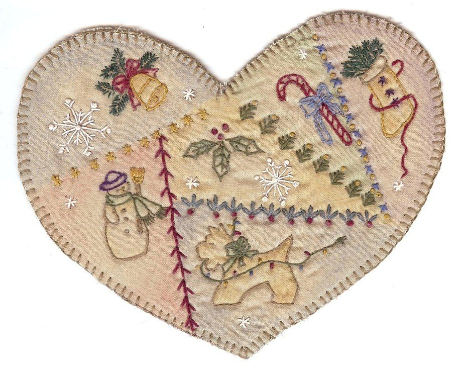 02 Vintage  Christmas Country Heart