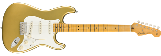 Fender Lincoln Brewster Stratocaster, Maple Fingerboard, Aztec Gold