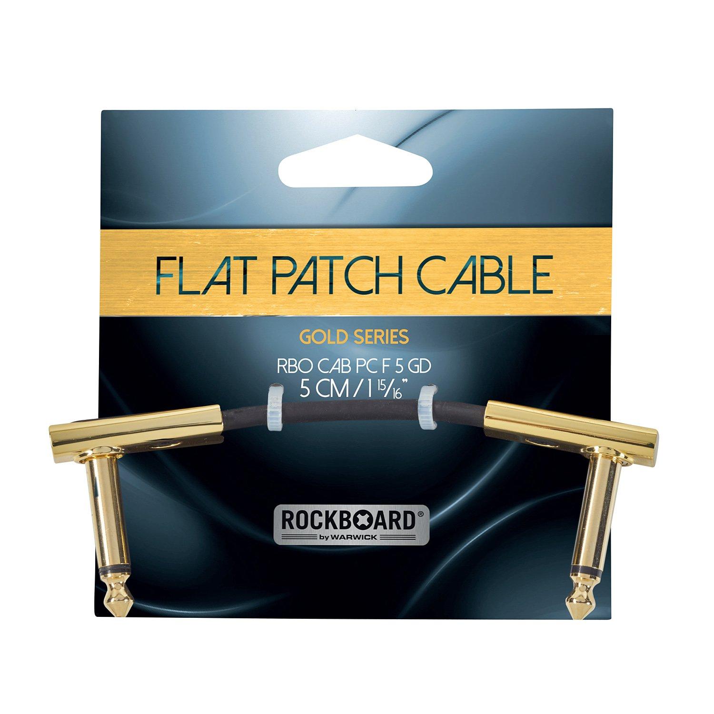 RockBoard Flat Patch Cabel Gold, 5 cm / 1.97