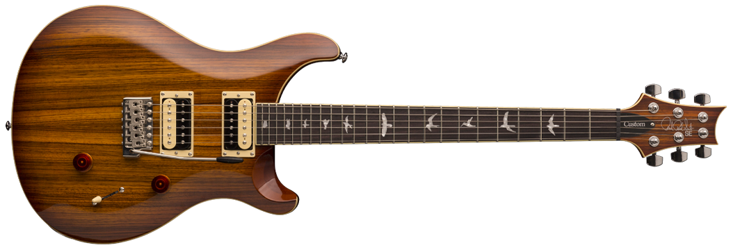 PRS SE Custom 24 Exotic Top - Zebra Wood, Vintage Sunburst