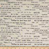 Fabri-Quilt The Good Life Words Cream