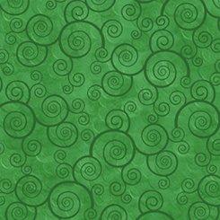 QT Harmony Cotton Curly Scroll Shamrock