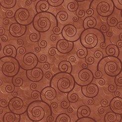 QT Harmony Cotton Curly Scroll Terracotta
