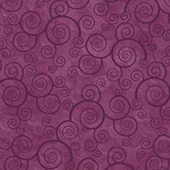 QT Harmony Cottons Curly Scroll Plum Velvet