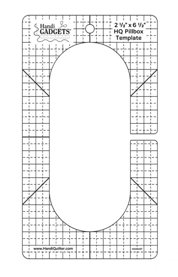 Handi Quilter Pillbox Ruler