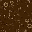 Quilt Backing 108 Brown Flower Dot