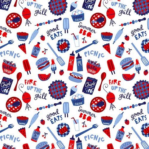 Studio e Patriotic Parade Tossed Picnic Foods