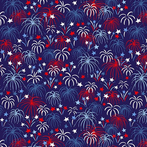 Studio e Patriotic Parade Fireworks Dark Blue