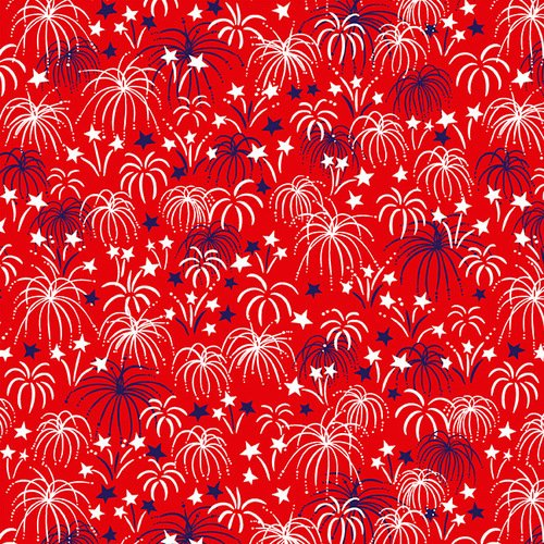 Studio e Patriotic Parade Fireworks Red