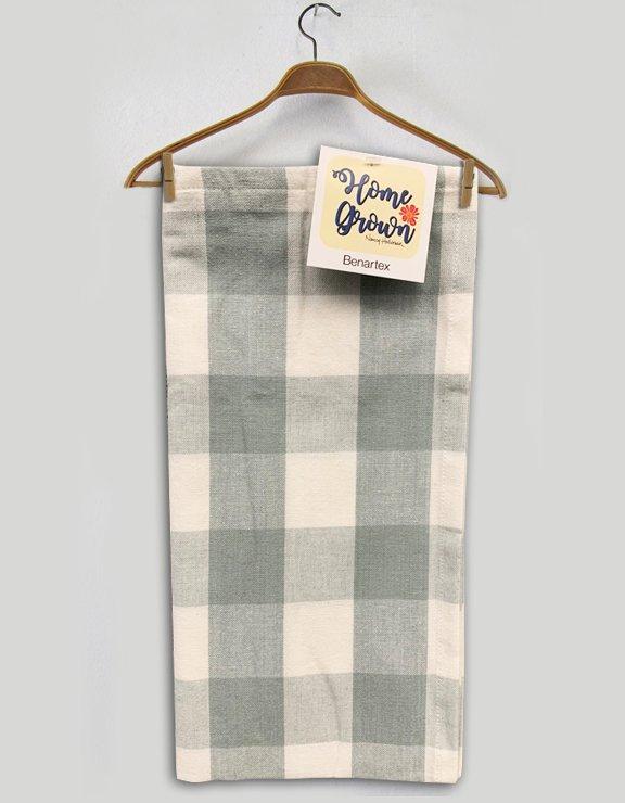 Benartex Buffalo Check Toweling Grey