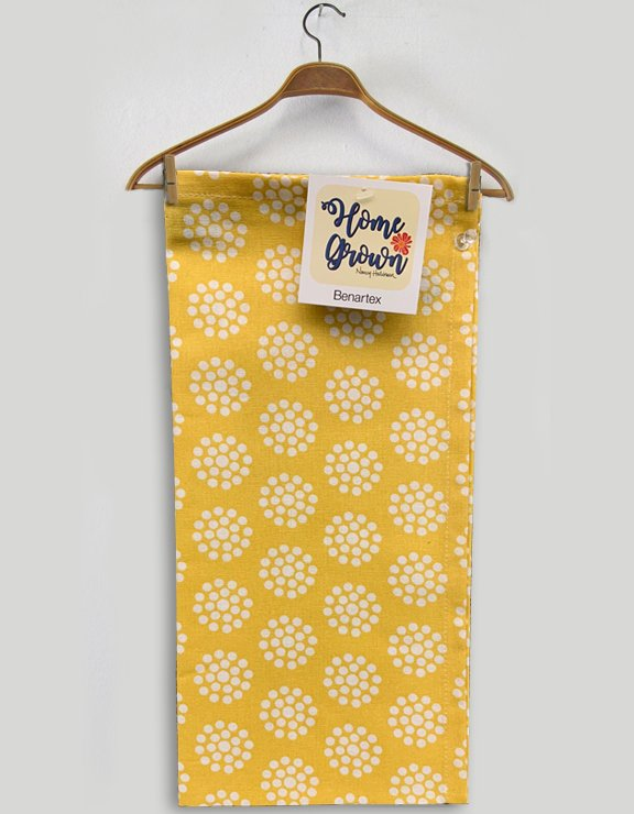 Benartex Dot Flower Toweling Yellow