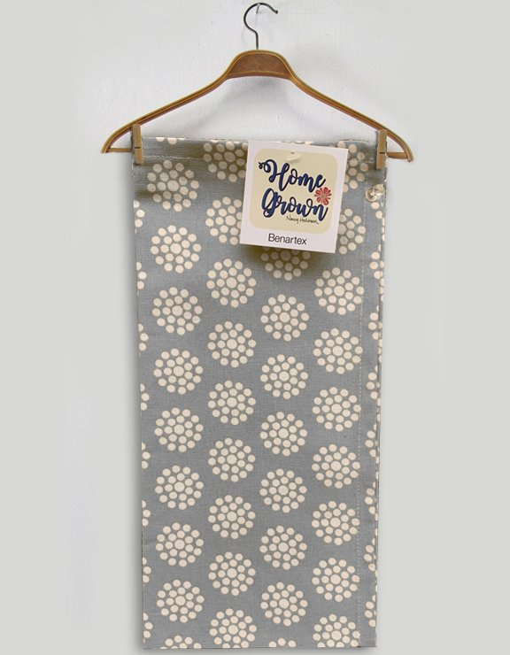 Benartex Dot Flower Toweling Grey