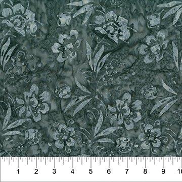 Banyan Batiks Sazerac(Gray/Black Floral)
