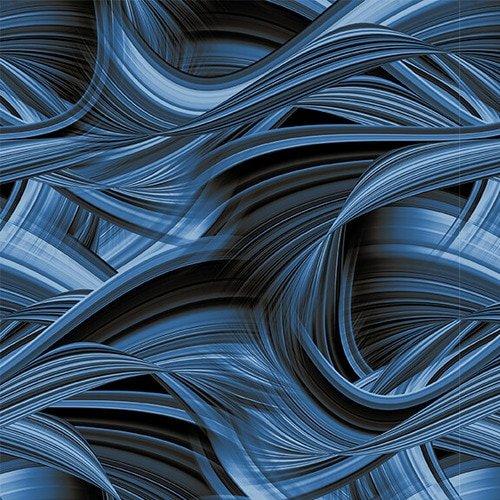 108 Wide Back Blank Sedona Wave Textile Blue