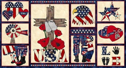 Blank American Honor ll Blue Panel