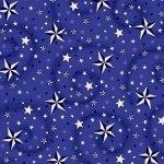 108 Wide Back Henry Glass Navy Stars w/Swirl