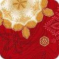 Kaufman Holiday Flourish ll Red/Large Snowflakes