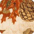Kaufman Shades of the Season 11 Pinecones on Cream