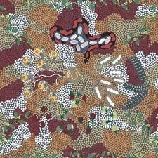 Aboriginal M & S  Bush Tucker Dreaming Gray