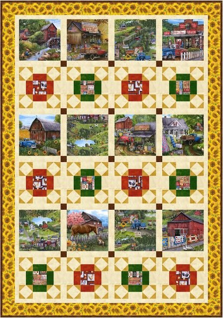 Country Paradise Quilt 2 Quilt Kit