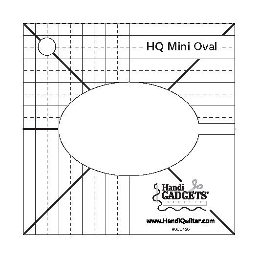 Handi Quilter Mini Oval Template