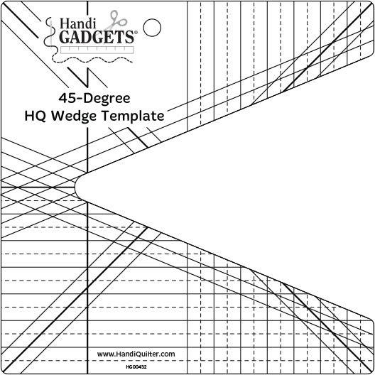 Handi Quilter 45 Degree Wedge Ruler