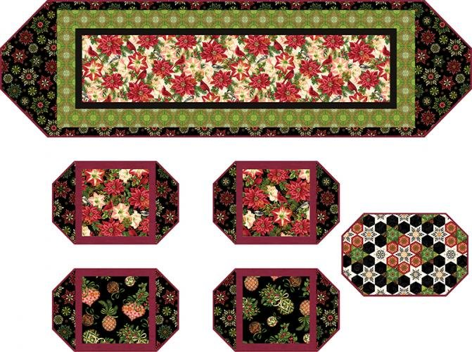 Holiday Flair Table Runner Inc Back