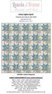 Fairy Lights Dusky Green Houses Quilt Kit