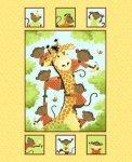 Susybee Monkey & Giraffe Quilt Kit