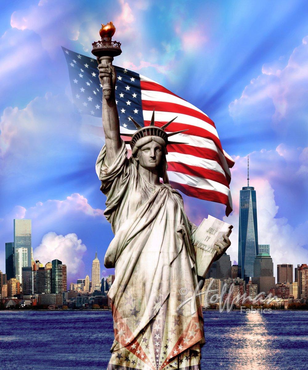 Land That I Love Panel-Statue of Liberty-Americana