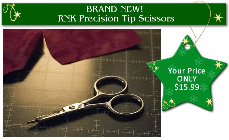Quilters Select RNK Serrated Micro Tip Straight Scissors