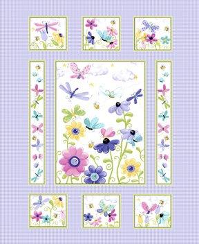 Susybee Flutter Quilt Panel