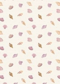 Lewis & Irene Small Things by the Sea - Sea Shells on Cream
