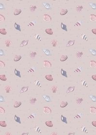 Lewis & Irene Small Things by the Sea - Sea Shells on lavendar