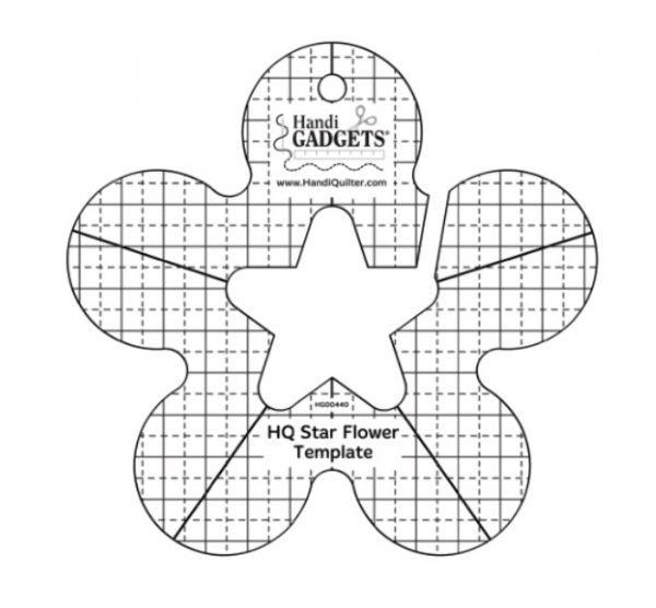 Handi Quilter Star Flower Template Ruler