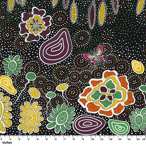 Summertime Rainforest Black by Heather Kennedy - M & S TEXTILES AUSTRALIA