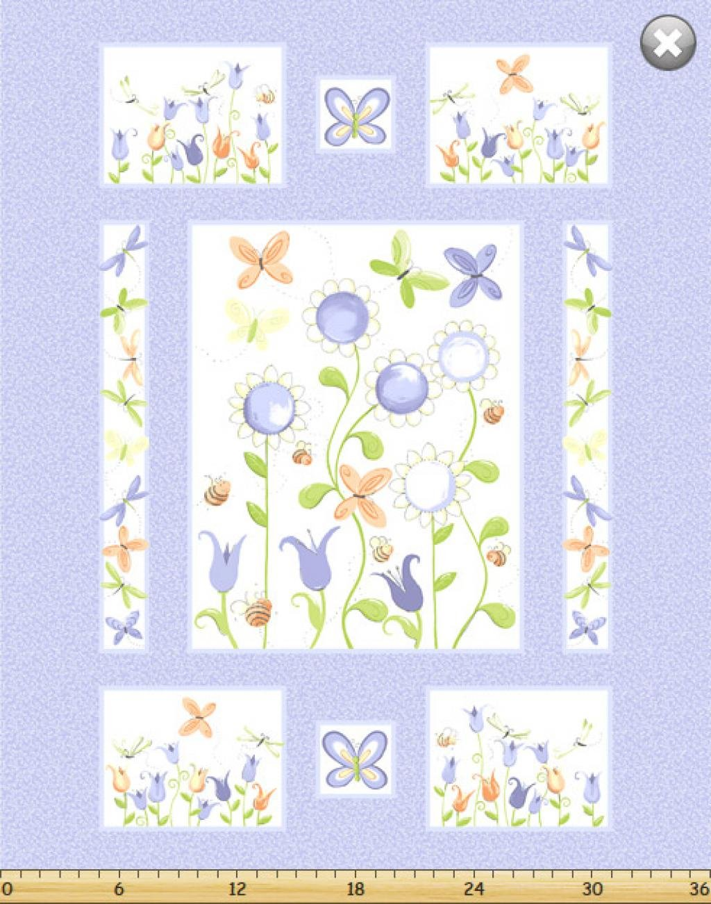Susybee Flower's & Bee's Panel Kit