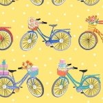 Henry Glass Enjoy the Journey Yellow Bicycles