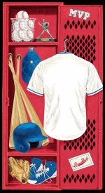 Blank Hit, Run, Score Baseball Locker Panel