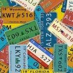 Blank Coast to Coast Licenses Plates