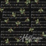 Hoffman Cardinal Carols Music & Holly Sprig Black/Gold