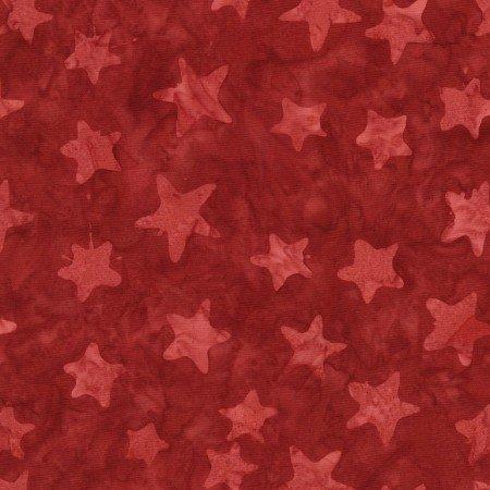 Timeless Tonga Stars Batik Patriot Red