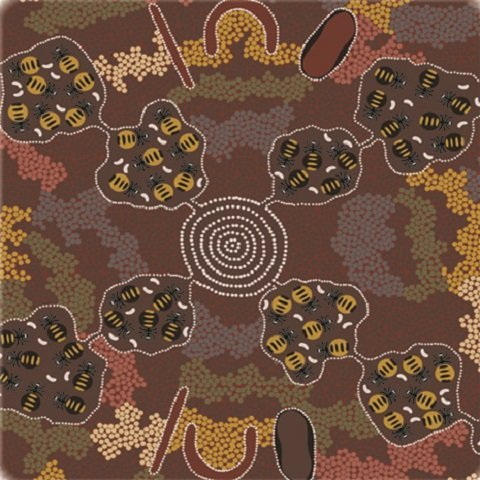 Aboriginal M & S  Wild Bush Honey Ant Brown