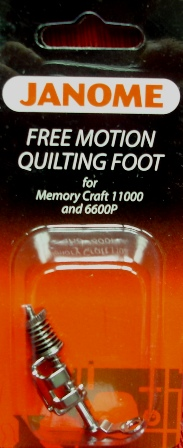 Free Motion Quilting Foot BP-1 for Memory Craft 11000 and 6600P 200-442-004