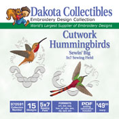 Cutwork Hummingbirds CD