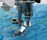Open Toe Quilting Foot requires low shank adapter