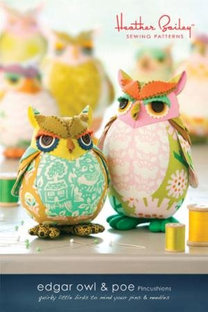 Pattern - Pincushion - Edgar Owl & Poe