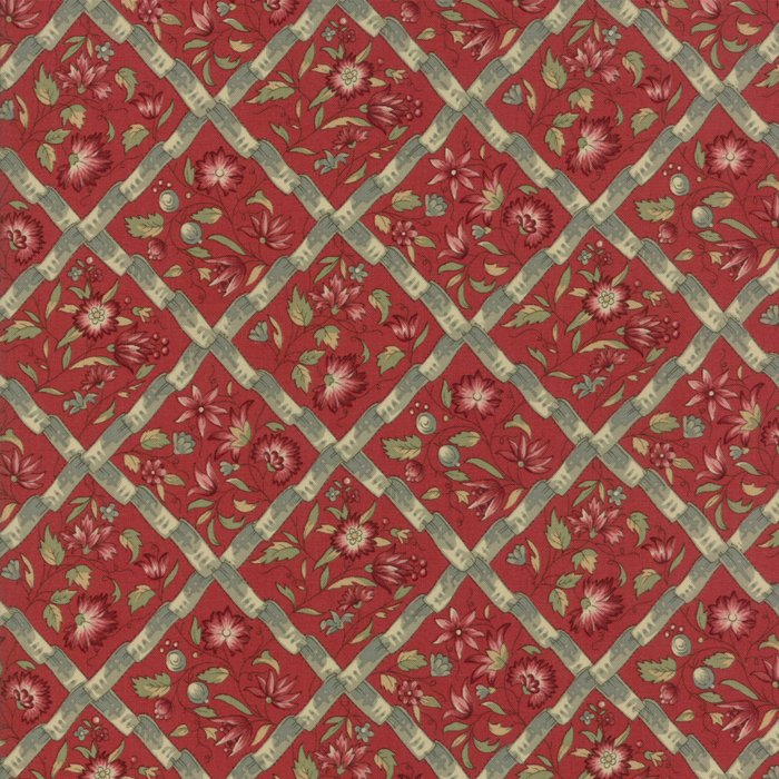 Fabric - Jardin d' Ver - Rouge 13812-11